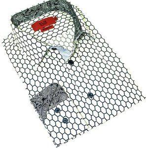 Boy's Elie Balleh WhiteQuatrefoil Button-up Shirt